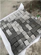 China Sesame Grey Granite G603 Cobblestones,Setts