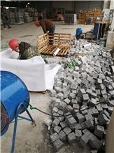 China Sesame White Granite G603 Cobble Stone Paver