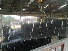 Snow Leopard Black Granite Polished Slabs