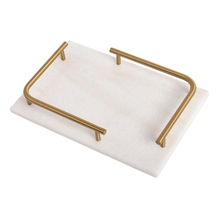 Creative Modern Room Marble Tray with Handle