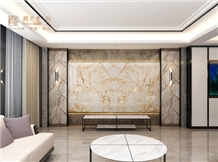 Golden Phoenix+Italian Brown+Violet Board Wall Panels