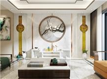 Jazz White+Sapiri Wood+Domestic Blue Sands Wall Panels