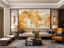 Jiangshan Picturesque Relief+Lu Si Ash+Walnut Wall Panels
