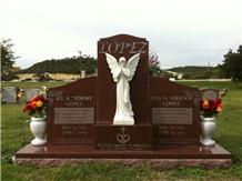 India Red Granite Monument, Marble Statue/Vases