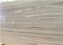 White Wood Vein Polished Big Slab & Tile