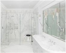 Calacatta Marble Residential Bathroom Design