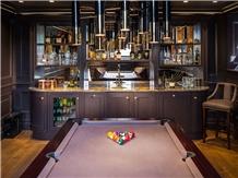 London Black Quartzite Commercial Bar Top