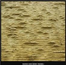 Sahra Yellow Tuff Chiseled and Sawn Wall Tiles