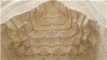 Sahra Yellow Tuff Stone Building Ornaments