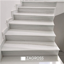 New Pentelico Marble Staircase