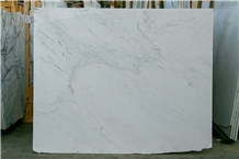 Ariston White Marble Slab with Little Grey Texture