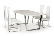 Italy Carrara White Marble 10 Seat Coffee Table