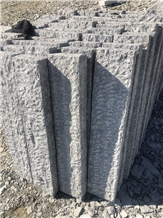 Dalian G603 Greygranite Palisade Kerbstone by Hand