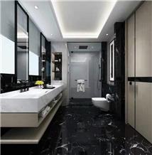 Black Marble Flooring Bathroom Wall Tile Slab