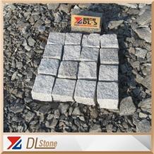 Split Grey G603 Granite Paving Stone Cobbles