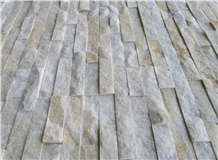 Yellowish White Quartzite Panel Wall Covering Outside