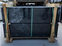 Mugla Black Marble Slabs, Tiles