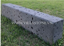 Viet Nam Lava Kerbstone with Hole and Less Hole