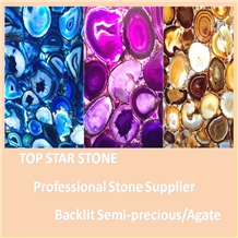 Backlit Semiprecious Stone,Agate Stone, Gemstone