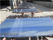 Azul Macaubas Blue Quartzite Tiles, Slabs