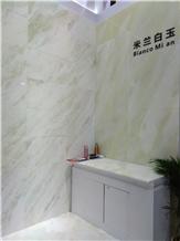 Bianco Milan Marble Slabs, Tiles