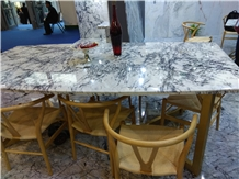 Centalla White Marble Polished Table Top
