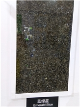 Emerald Blue Granite Slabs, Tiles