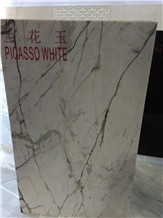 Picasso White Marble Slabs, Tiles