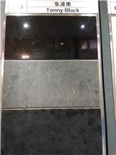Tonny Black Marble Slabs, Tiles