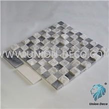 Cloudy Gray Natural 3d Polished Stone Mosaic