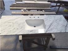 Carrara White Marble Countertop &Vanity