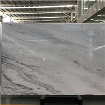 Beautiful White Blue Crystal Marble Slab and Tile