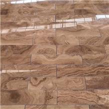 China Royal Wood Grain Brown Marble Slabs