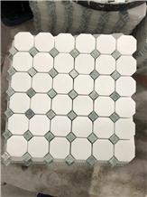 Ming Green and Carrara White Otagonal Mosaic