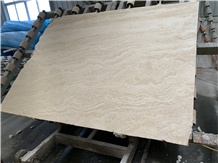 White Travertine Big Slab for Wall and Floor Cover