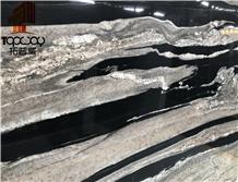 Brazil Black Horse Granite Slab