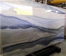 High Polished Nano Glass Stone Azul Macaubas Panel