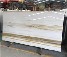 Neno Glass Yellow Stone Slabs for Countertops