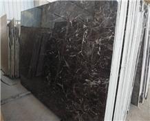 China Dark Emperador Marble Slabs 18mm