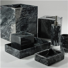 Marble Bathroom Products Tree Black Customized