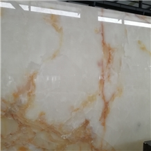 Snow White Onyx Slabs and Wall Tiles