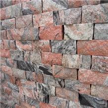 China Tropical Black Red Granite Cladding Stone