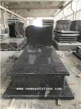 New G654 Impala Black Granite Tombstones& Monument
