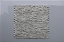 China Thassos White Split Brick Mosaics