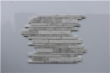 Italy Carrara White Polished Brick Marble Mosaics