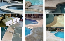 Custom Cut Natural Stone Pool/Spa Coping