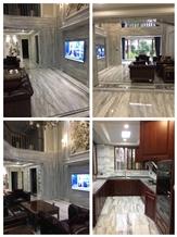 Grey Rain Clouds White Marble Floor Slab Tiles