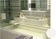 Polished White Nano Stone for Basin & Countertops
