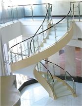 Pure White Crystallized Stone Stairs,,Nano Steps