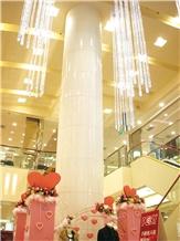 Pure White Nano Glass Stone for Building Pillars